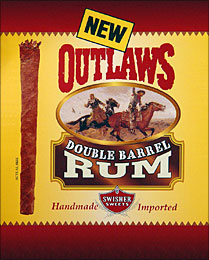 SWISHER SWEETS OUTLAWS DOUBLE BARREL RUM 6/8 PKS
