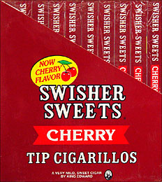 SWISHER SWEETS TIP CIGARILLO CHERRY 20/5 PKS