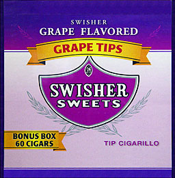SWISHER SWEETS TIP CIGARILLO GRAPE 60CT/BOX