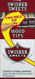 SWISHER SWEETS WOOD TIP 10/5PKS