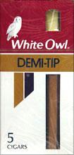 WHITE OWL DEMI-TIP, 10/5PKS