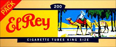 EL REY FILTER CIGARETTE TUBES - 200CT