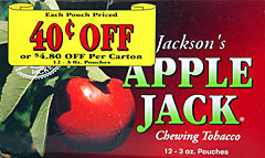 APPLE JACK CHEWING TOBACCO 12 COUNT