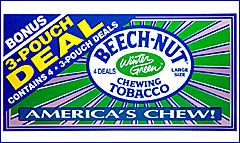 BEECHNUT WINTERGREEN CHEWING TOBACCO  12 COUNT - PROMOTIONAL BOX