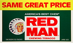 RED MAN CHEWING TOBACCO 12 COUNT