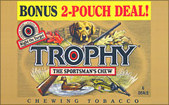 TROPHY CHEWING TOBACCO 12 COUNT - 6/2 POUCH DEALS