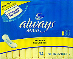 Always Maxi Pads Regular 24ct