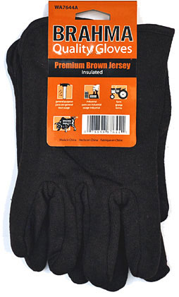 Brahma Brown Jersey Gloves Insulated 