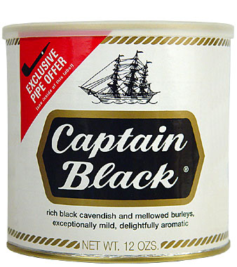 CAPTAIN BLACK PIPE TOBACCO 12 OZ CAN