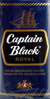 CAPTAIN BLACK ROYAL PIPE TOBACCO 1.75OZ PACKAGES 6CT.
