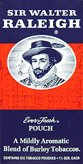 SIR WALTER RALEIGH PIPE TOBACCO 1.5 OZ 6CT.
