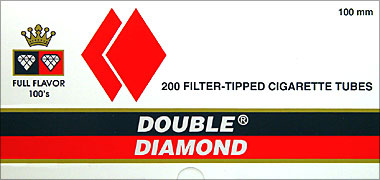 DOUBLE DIAMOND CIGARETTE TUBES FULL FLAVOR 100 - 200CT BOX