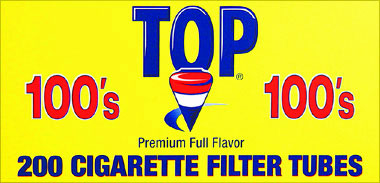 TOP CIGARETTE FILTER TUBES - FULL FLAVOR 100'S- 200CT