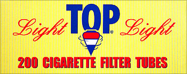 TOP CIGARETTE FILTER TUBES - LIGHT - 200CT