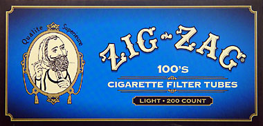 ZIG ZAG CIGARETTE TUBES LIGHT 100 - 200CT BOX