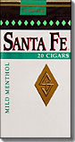 SANTA FE LITTLE CIGARS-MENTHOL MILD