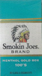 SMOKIN JOES MENTHOL LIGHT 100 BOX