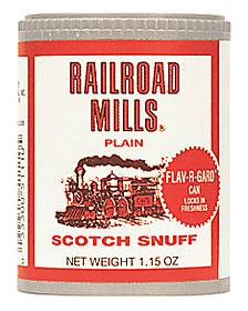 RAILROAD MILLS PLAIN SNUFF 12CT
