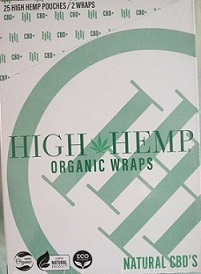 High Hemp CBD Organic wraps- NATURAL