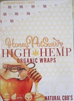 High Hemp CBD Organic wraps- HONEY POT SWIRL