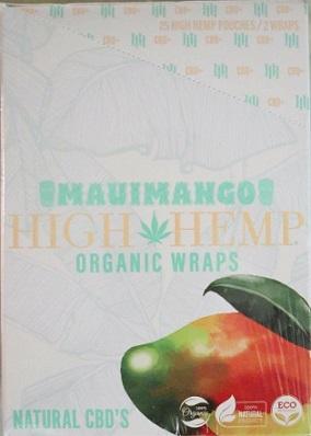 High Hemp CBD Organic wraps- MAUIMANGO