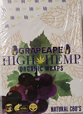 High Hemp CBD Organic wraps- GRAPEAPE