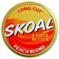 SKOAL LONG CUT PEACH BLEND 5CT/ROLL