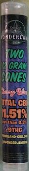 WONDERLAND CBD HEMP FLOWER JOINT 2/PK CHERRY WINE