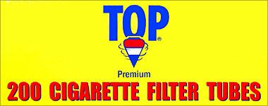 TOP CIGARETTE FILTER TUBES - 200CT