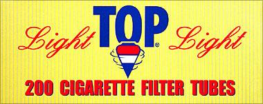 TOP CIGARETTE FILTER TUBES - LIGHT - 200CT