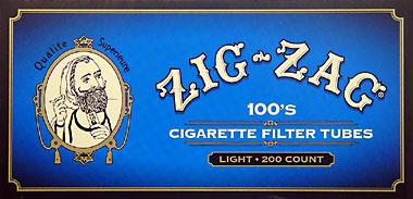ZIG ZAG CIGARETTE TUBES LIGHT 100 - 200CT BOX
